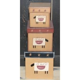 01-2915-Sheep Nesting Boxes set of three