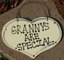Grannys Are Special 1006  Large Wood Heart