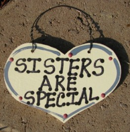 1024 - Sisters Are Special  smalll wood Heart
