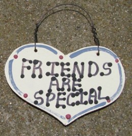 1025 - Friends Are Special  smalll wood Heart