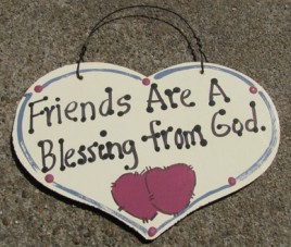 1030F - Friends Are  a Blessing from God wood sign