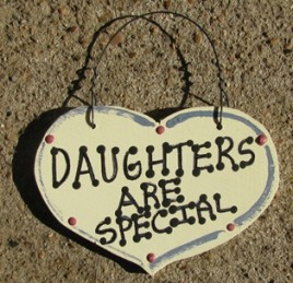 1026D - Daughters Are Special  smalll wood Heart