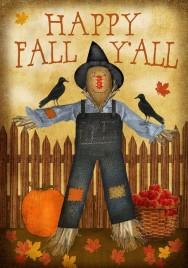 Happy Fall Y'all Garden Flag 2346HFY