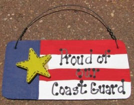 10977PCG-Proud of our Coast Guard wood sign