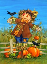 2434OSHF - October Scarecrow House Flag