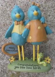 113-83554  Congratulations you two Love Birds  Happy Anniversary