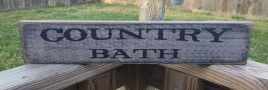 Primitive Wood Block Country Bath 12561