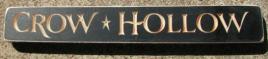 Primitive Engraved Wood Block 12 Crow Hollow