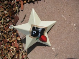 Metal Teacher Christmas Ornament OR205 - #1 Teacher