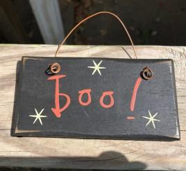 2001B - Boo wood sign