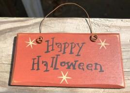 2001HH - Happy Halloween wood sign