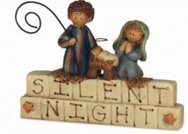 26639SN- Silent Night Resin Block