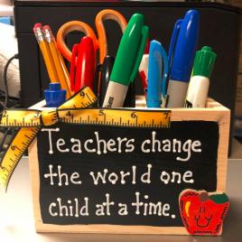 Teacher Gifts  2708D Teacher Change Supply Wood Box