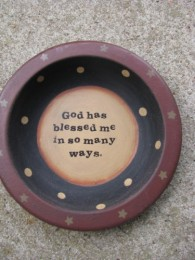 32056B - God Has Blessed Me in so many ways wood bowl
