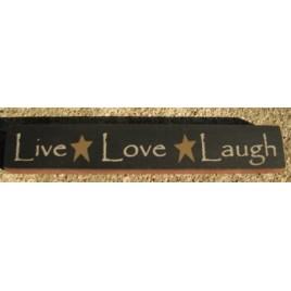 32327LB-Live Love Laugh wood block