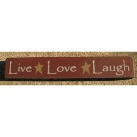 32327LM-Live Love Laugh wood block