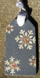 JS34847SF-Snowman Snow Flake wood Tag