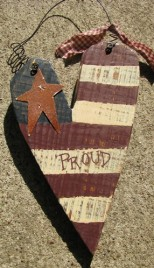 38233P-Proud Metal wood Star Heart