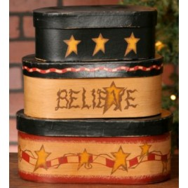 3B1278-Believe Nesting Boxes  set of 3 boxes