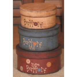 3B1190-Buttons, Buttons and more Buttons set of 3 nesting boxes
