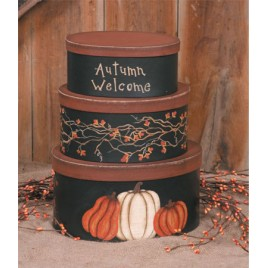 3B1214bm - Autumn Welcome set of 3 boxes