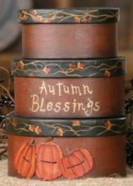 3B1232bm - Autumn Blessings set of 3 boxes pumpkins