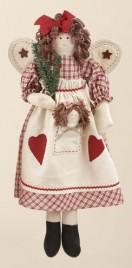 50666DA - Christmas Angel with Rag Doll in Pocket