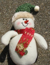 52720H - Green Hat Snowman Ornament