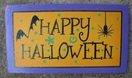 59038HH - Happy Halloween wood Block
