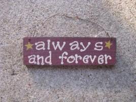 60077AAF - Always & Forever wood sign