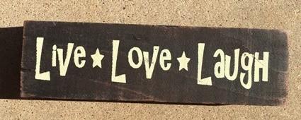 69036LLL - Live Love Laugh Wood Block Sign