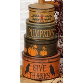 Fall Decor Nesting Boxes 6B2953bm-Primitive Autumn Stack s/4