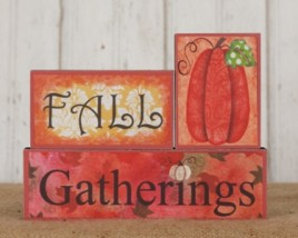 Primitive MDF Blocks 6w1828-Block Set Fall Gatherings