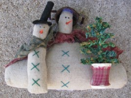 86408-Primitive Snowman w/tree