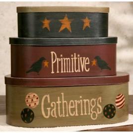 Primitive Nesting Boxes set of 3 8B2935-Primitive Gatherings