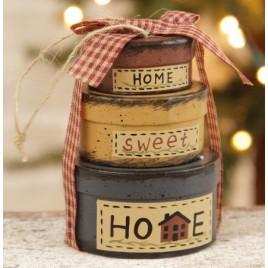 8B2992bm- Home Sweet Home nesting boxes set of 3