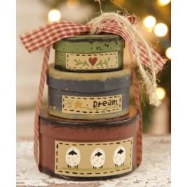 8B2993bm-Dream Mini Oval nesting boxes set of 3