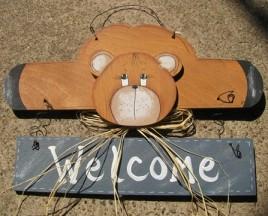 9001B - Welcome Bear Blue Banner