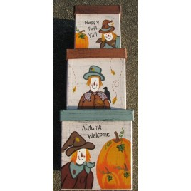 Fall Decor Nesting Boxes B14SC-Scarecrow Stacking Boxes s/3