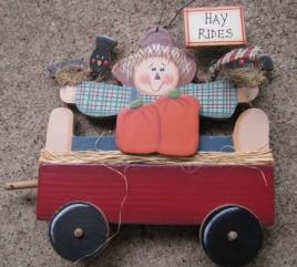 Primitive Fall Decor C0328- Hay Rides