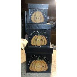 Family Friends and Traditions Fall Nesting Boxes