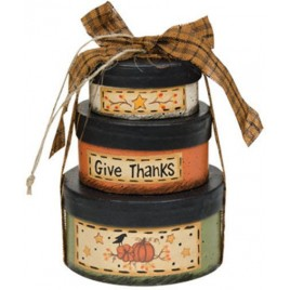 Give Thanks Nesting Boxes GM3775 - Fall s/3 Nesting Boxes Paper Mache'