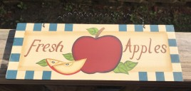 wd426 - Fresh Apples Wood Sign