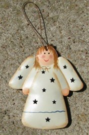 Metal Christmas Ornament OR311 - Angel Metal Star 3D Tin Punched