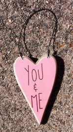 Wood Valentine Heart ro-493YM - You and Me Heart