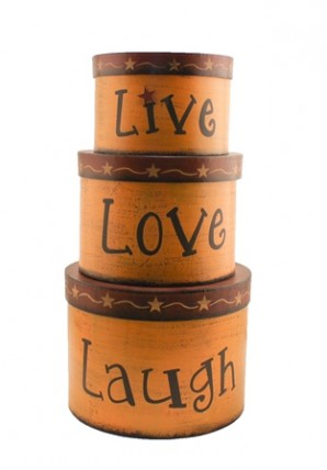 TWA1466-Live Love Laugh set of 3 Nesting Boxes
