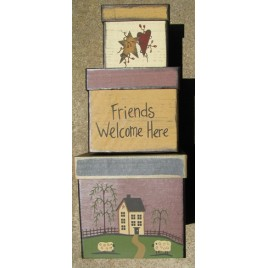 B14FWH-Friends Welcome Here set of 3 nesting boxes