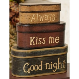 8B2990 - Always Kiss me Goodnight set of 3 nesting boxes