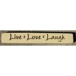 G1202 Live Love Laugh engraved wood block