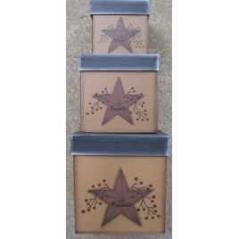 G31461 - Star & Berry Nesting Boxes set of 3